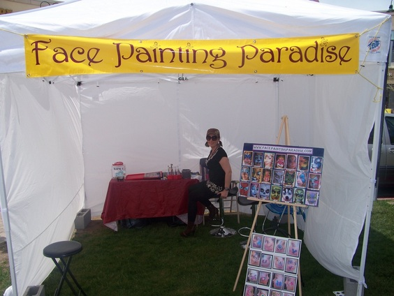 face painting paradise, face painting in utah, face painter in utah, face painting paradise in utah, face painting booth, setup face and body makeup, professional makeup artist