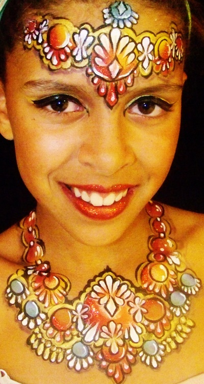 Designs for girls face painting paradise in salt lake for Jewelry making classes salt lake city
